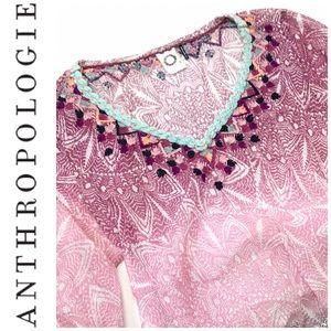 Anthropologie Akemi + Kin Tunic Blouse Boho S M